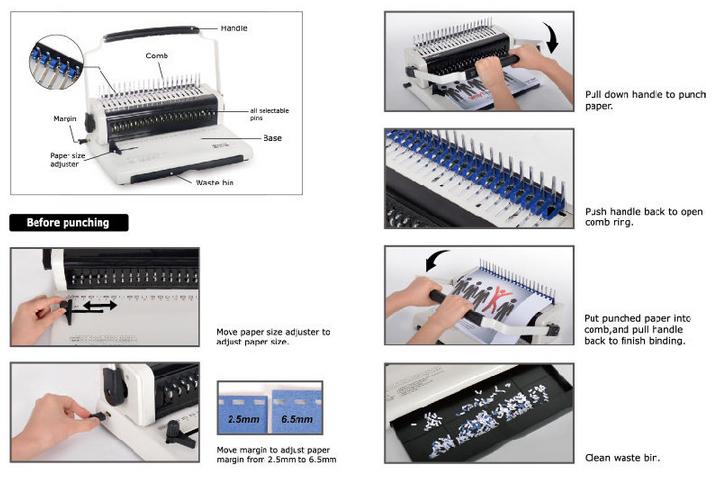U568 Comb Binding Machine